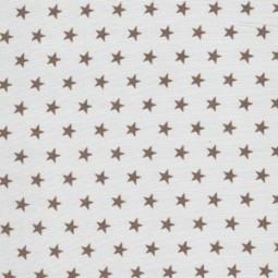 Kleine beige Sterne auf weiß
