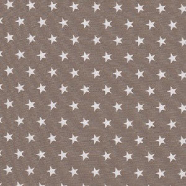 Kleine weiße Sterne auf Beige