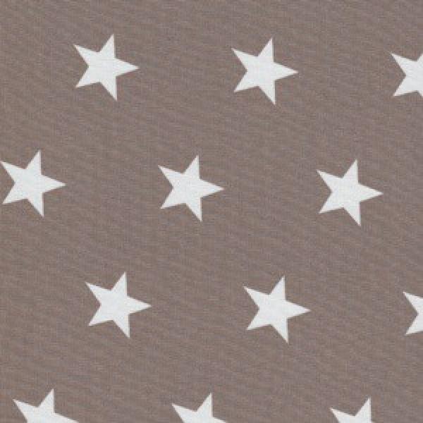 Weiße Sterne auf Beige