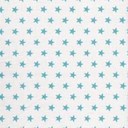 Kleine türkise Sterne auf Weiß