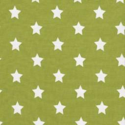 Mittelgroße Weiße Sterne auf Hell Grün