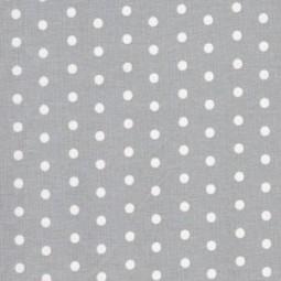 weiße Punkte auf Grau, Beschichteter Baumwollstoff