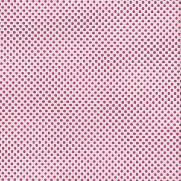 Pinke Tupfen auf Weiß