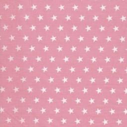 Kleine weiße Sterne auf rosa