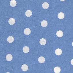 Ocean Blau Beschichteter Baumwollstoff mit weißen Dots