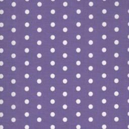 weiße Punkte auf Violet, beschichteter Baumwollstoff,