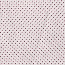 Mini Punkten fuchsia auf weiß