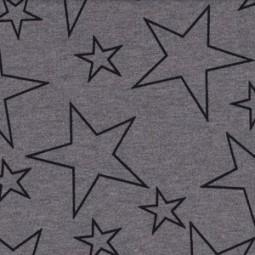 grauer Sweat mit schwarzen Sternen