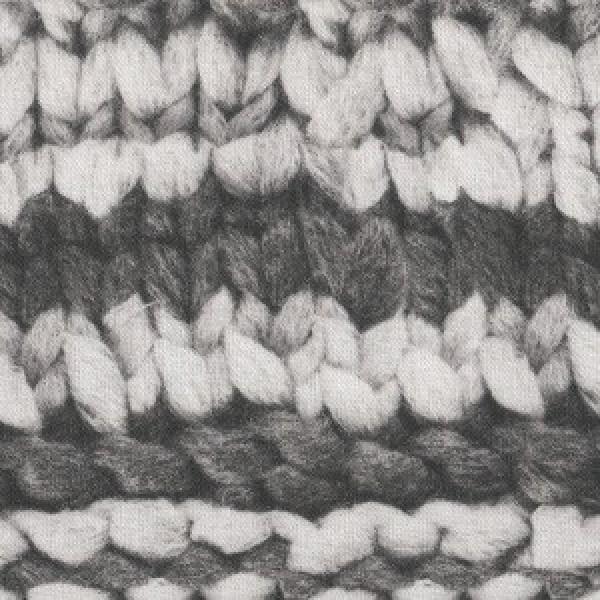 Digital Druck graue Wolle