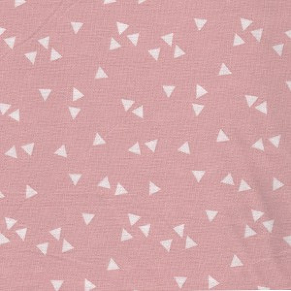 Popelin Dreieck rosa