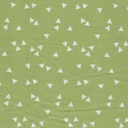Popelin Dreieck grün