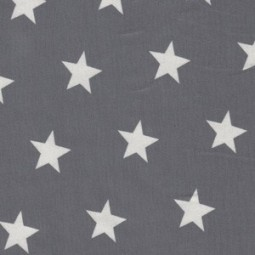 Jersey mittlere weiße Sterne auf dunkel grau