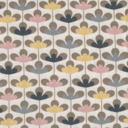 Jersey skandinavische Blumen gelb