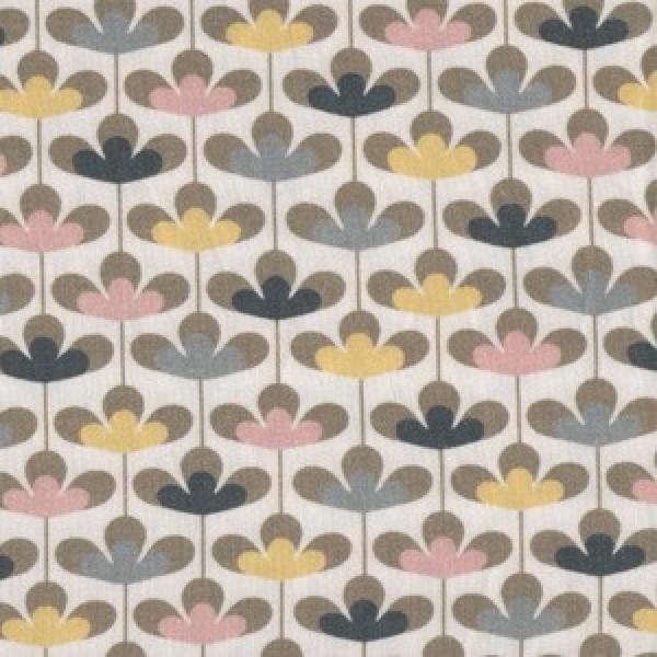 Skandinavische stoffe  Jersey skandinavische Blumen gelb | ALLE STOFFE | Stoff & Co ...