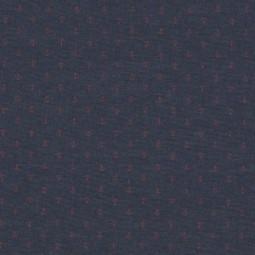 Chambray blau Anker rot