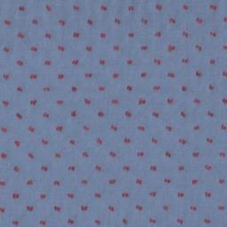 Plumetis zweifarbig blau-rot