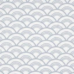 Fischschuppen auf Blauen Canvas