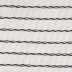 Woven stripes black on white