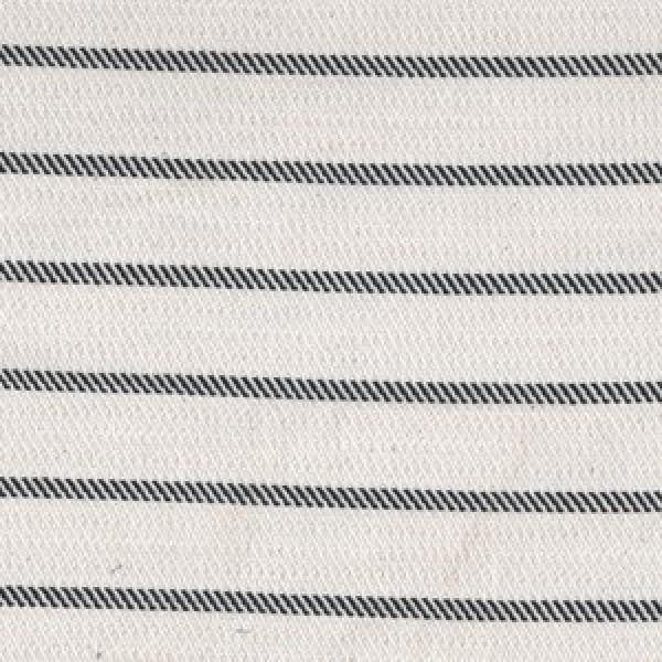 Woven stripes black on white