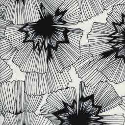 Black and White japanese flowers by Cotton + Steel