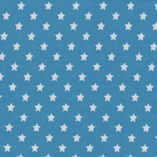Kleine weiße Sterne auf türkis