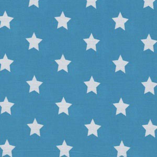 Mittlere weiße Sterne auf türkis
