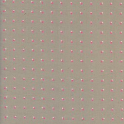Dots neon pink Black and white by Cotton + Steel