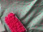 Pompomborte groß Neon Rosa
