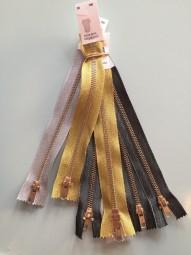 Goldener Reißverschluss 15 cm