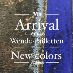 Wende-pailletten Blau Silber