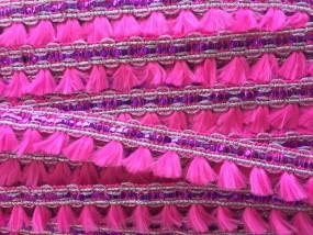 Pompom und Glitzer Pink