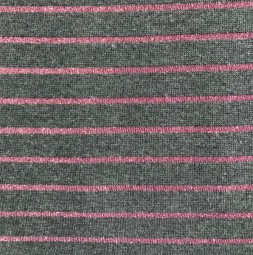 Lurex Stripes grau pink