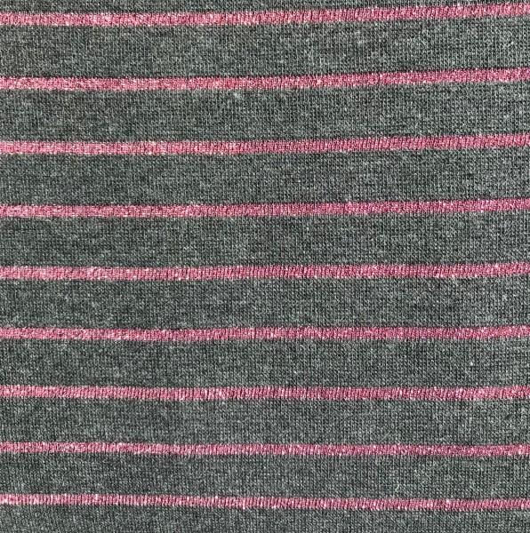 Lurex Stripes grau pink