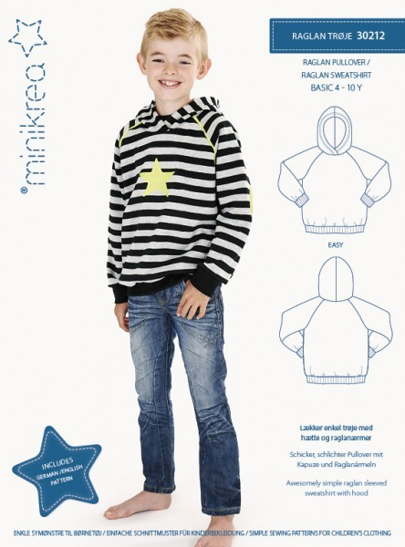 Raglan-Pullover 4-10 Jahre