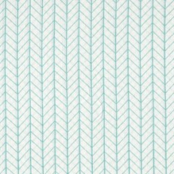 Leichter Mousseline-Gauze mit türkisen Muster