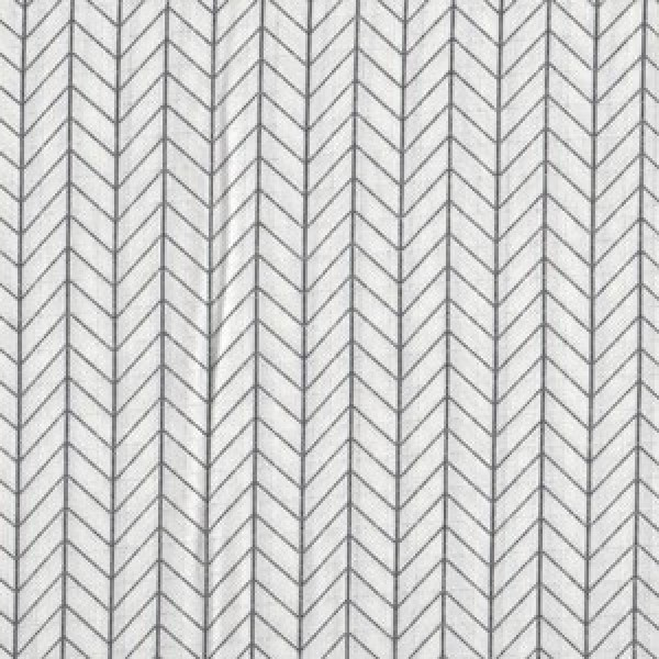 Leichter Mousseline-Gauze mit Anthrazit Muster
