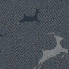 Jacquard sweat mit Lurex - Hirsch blau