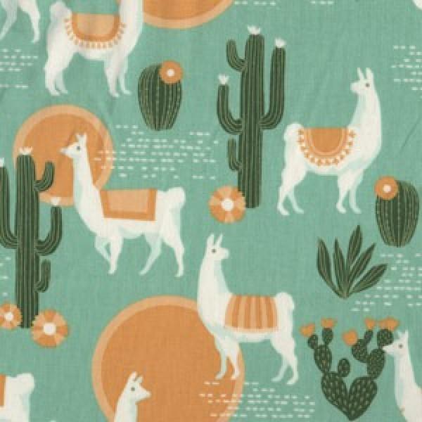 Lingering Llamas, Florabell Joe Dewberry by Free Spirit