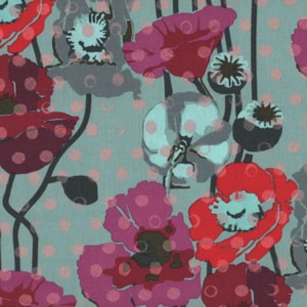 Floral retrospective plum, Anna Maria Horner by Free Spirit
