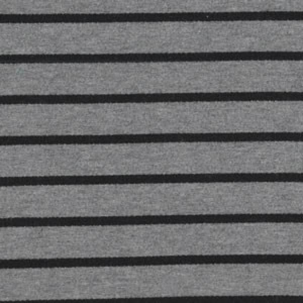 Viscose Jersey Streifen schwarz grau