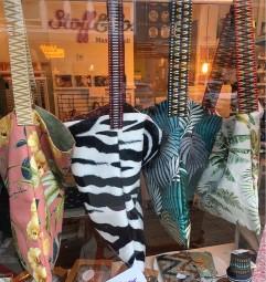 Zebra Print Samt