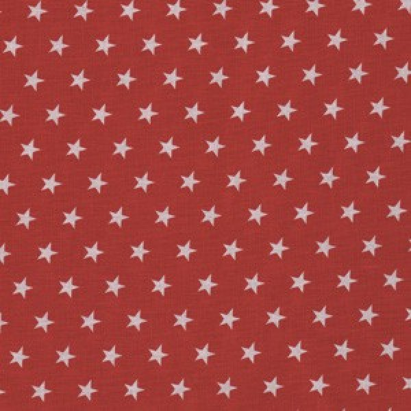 kleine weiße Sterne auf Rot