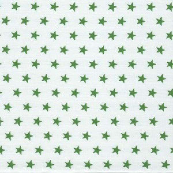 kleine tannengrüne Sterne auf weiß