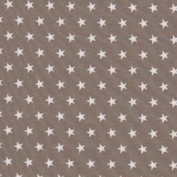 Kleine weiße Sterne auf dunkelbraun