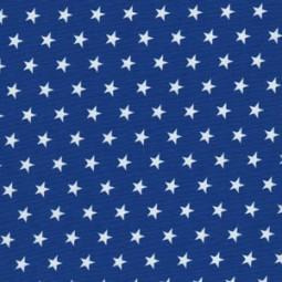 Kleine Weiße Sterne auf Royal Blau