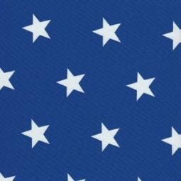 Mittelgroße Weiße Sterne auf Royal Blau