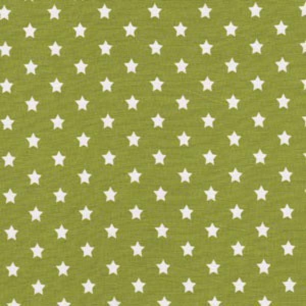 Kleine Weiße Sterne auf Hell Grün