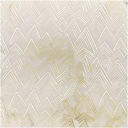 Baumwolle gold weiß gemustert
