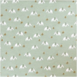 JERSEY Elefant mint gold