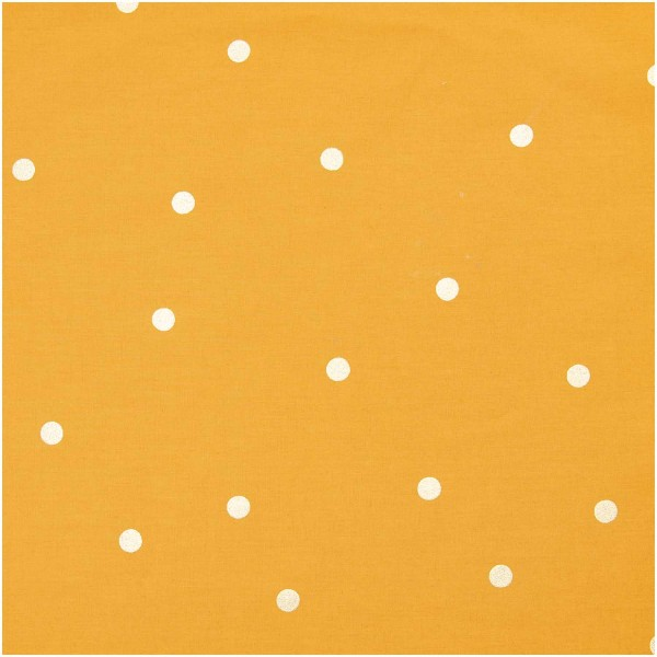 Baumwolle ocker gold PUnkte
